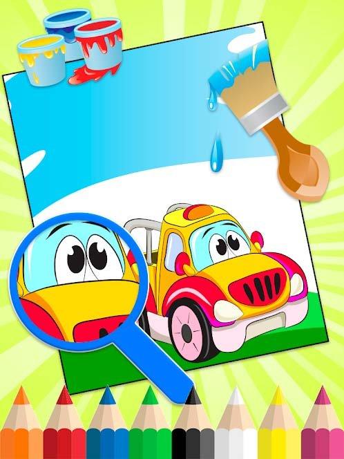 Скачать Раскраски для детей: машинки на андроид бесплатно ...
